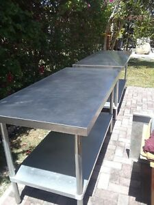 one 1 Stainless Steel Commerical Kitchen Table 30 X 60 It Is For One Table