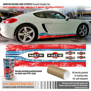 Scratched Martini Side Stripes Set For Cayman Boxster