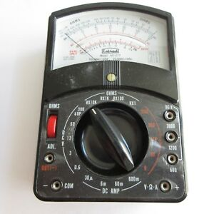 Vintage Calrad Ohms Dc Amp Meter Model 65 277 In Case With Handle Tested
