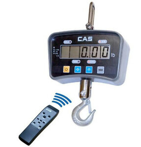 Cas Ie Series Heavy Duty Crane Scale 1000x 0 5 Lb Lcd Hoist Remote brand New