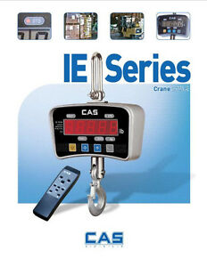Cas Ie Series Heavy Duty Crane Scale 500x 0 2 Lb Led Hoist Remote brand New