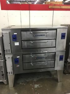 Bakers Pride Ds 805 48 Double Stack Gas Pizza Deck Oven 7 Height Refurb