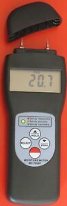New Digital Pin Moisture Meter Tester Wood Paper Soil Fiber Building Material