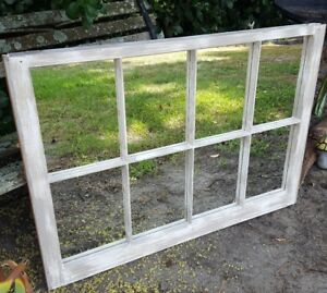 Vintage Sash Antique Wood Frame Pinterest Rustic Custom Painted 8 Pane Mirror