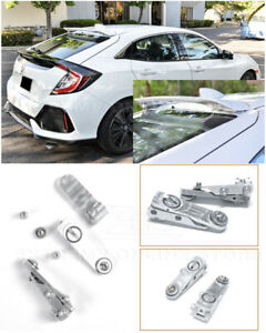 Eos For 16 Up Honda Civic Hatchback Silver Rear Roof Top Wing Spoiler Riser Kit