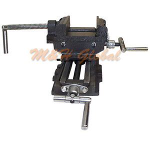 3 Jaw 2 Way Cross Vise Slide Drill Clamp Holder Drilling Milling Tool