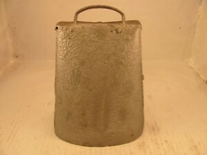 Antique Iron Primitive Hand Forged Cow Bell Early Americana Loud