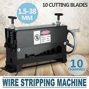 Portable Powered Manual Wire Stripping Machine Metal Tool Scrap Cable Stripper