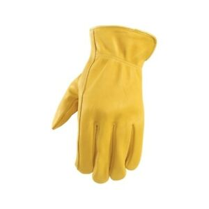 Wells Lamont Yellow Men s Large Leather Driver Gloves