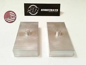 Sr Sierra Tundra Silverado 1500 2500 Hd 1 Billet Rear Lift Blocks Kit