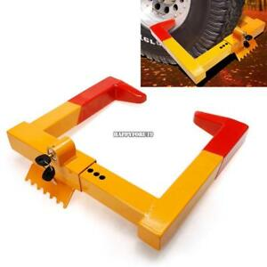 Wheel Tire Lock Clamp Parking Boot Anti Theft For Boat Car Suv Atv Rv With 2keys