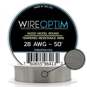 Tempered Ni200 Nickel Wire 28 Awg 0 32mm 50