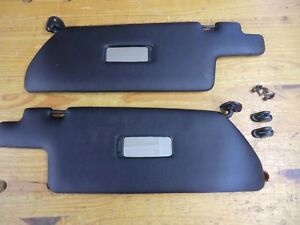 Porsche 944 Sunvisors Sun Visor Black With Attaching Hardware And Clips Nice