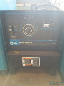 250 Amps Used Miller Dialarc Stick Welder Mdl Dialarc 250 Ac dc A5024
