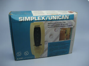 New Simplex Unican Ilco 7004 31 41w Brass Pushbutton Security Door Lock Nib