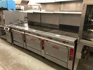 Vulcan Gh72 34 Hd Gas Range With Even Hot Top On Standard Oven Base Refurb