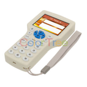 Us Ship 10 Frequency Smart Ic Nfc Id Card Rfid Writer Copier Reader With Keyfobs