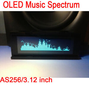 As256 3 12 Inch Oled Music Spectrum Audio Level Display Indicator Car Amplifier