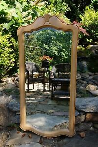 Ethan Allen Country French Vertical Mirror Birch 26 5300 270 Bisque Ca 1992