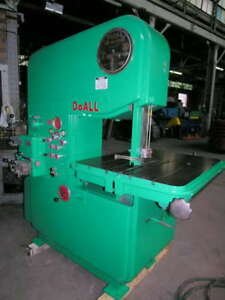 Doall Model Mp 20 zephyr Vertical Band Saw 48315