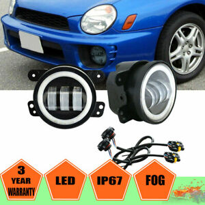 For 02 03 Impreza Wrx Gd gg Ej Led Bumper Fog Light Lamps Pair adapters