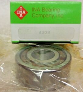 Ina Double Row Ball Bearing 4303 New