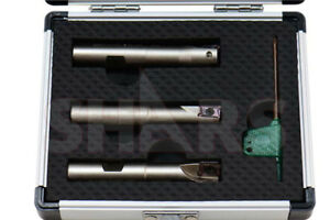 Shars 1 2 9 16 5 8 Mini Indexable End Mill Set With Apkt 1003 Insert New