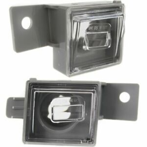 New Set Of 2 License Plate Lights Lamps Rear Driver Passenger Side Chevy Pair