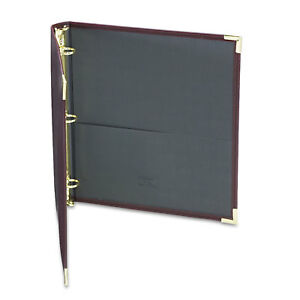 Samsill Classic Collection Ring Binder 11 X 8 1 2 1 inch Capacity Burgundy