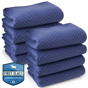 8 Moving Blankets Furniture Pads Deluxe Pro 80 X 72 Royal Blue