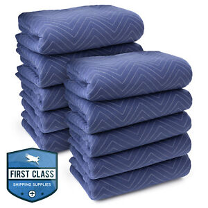 10 Moving Blankets Furniture Pads Deluxe Pro 80 X 72 Royal Blue