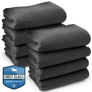 8 Moving Blankets Furniture Pads Ultra Thick Pro 80 X 72 Black