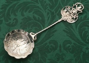 Dutch Old World Themed Small Serving Spoon