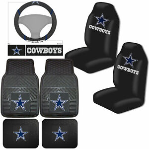 Nfl Dallas Cowboys Car Truck Seat Covers Floor Mats Steering Wheel Cover