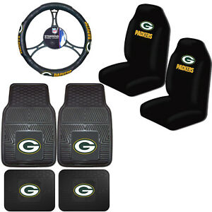 Nfl Green Bay Packers Car Truck Seat Covers Floor Mats Steering Wheel Cover