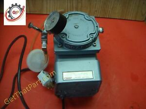 Gast 1 8 Hp Diaphragm Compressor Vacuum Pump With Gauge Regulator