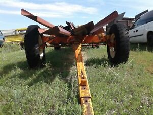 Allis Chalmers Trailer For Farm Hay Pole Pipe Irrigation Sprinkler Wagon Sheep