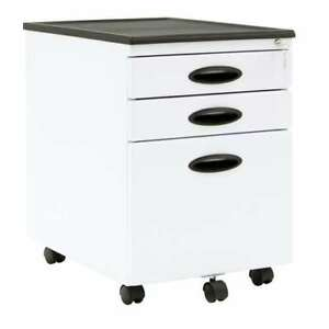 Calico Designs Home Office Storage 3 Drawer Mobile File Cabinet White used