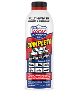 1 Bottle Lucas 10016 Complete Engine Cleaner Treatment Gas Diesel Fuel Engine