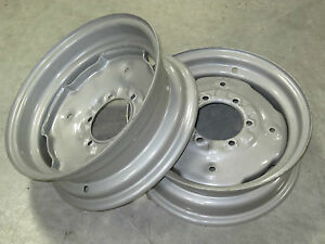 2 New Wheel Rims 5 5x16 Fit Many Allis Chalmers 6 Hole 6 Bolt Circle 5 50 16