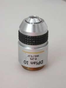 Olympus D Plan 10x Microscope Objective For Bh2 Bht Ch Series