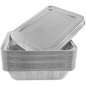 Aluminum Foil Steam Table Pans With Lids Perfect For Catering Party Supplies