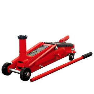 Floor Jack Heavy Duty Steel Lift 3 Ton Car Suv Garage Adjustable Saddle Trolley