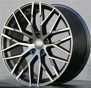 Set 4 22x9 5 5x112 Mesh Wheels For Audi A6 Q5 Sq5 A7 A8 S8 Rs7 Rs6 Q7 Vw Atlas