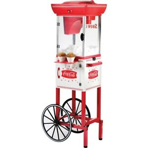 Coca cola Snow Cone Machine Maker Stand Dispenser Vintage Cart Electric Nostalgi