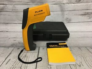 Used Fluke 63 Ir Thermometer With Case
