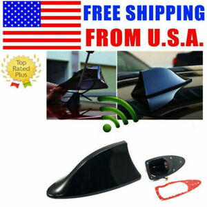 White Shark Fin Roof Antenna Aerial Fm Am Radio Signal Decor Car Trim Universal