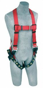 3m Protecta Pro Full Body Harness With 420 Lb Weight Capacity Red S 1191236