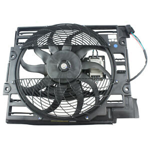 99 03 Bmw 5 Series 00 03 M5 A c Condenser Cooling Fan Assembly W Controller