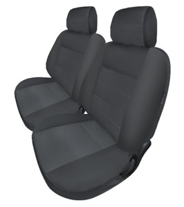 Pair Silver Modern Jacquard Seat Covers For Ford Falcon Combi Flatbed